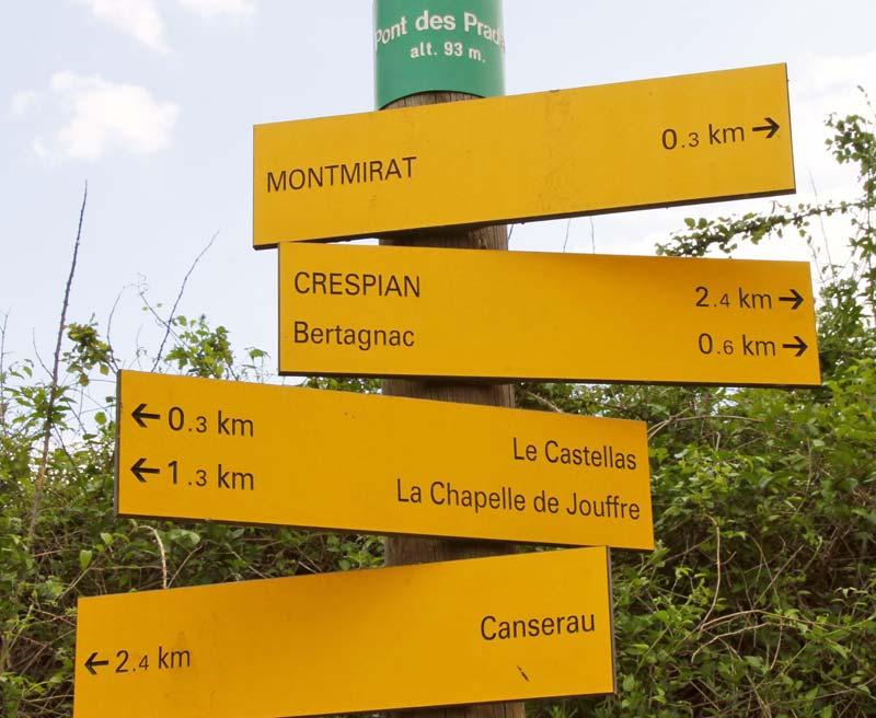 sorties randonné à Crespian Gard